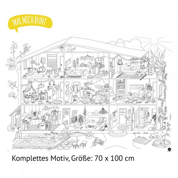 JEKA - Ausmalposter - Puppenhaus