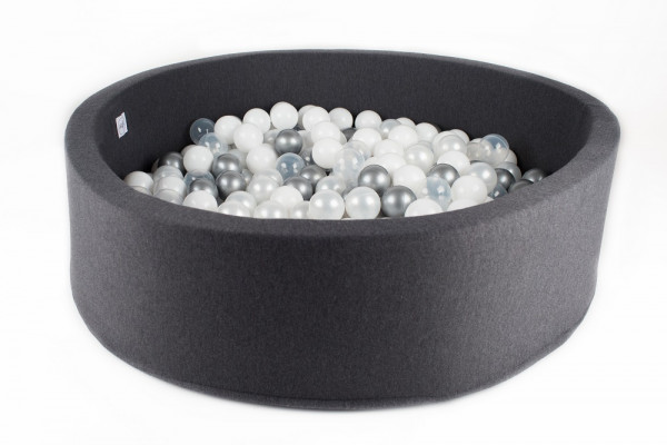 MiniBe - Bällebad dunkelgrau in verschiedenen Ausführungen