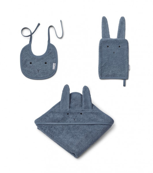 Liewood - Babyset 3-teilig Adele Terry Rabbit blue wave