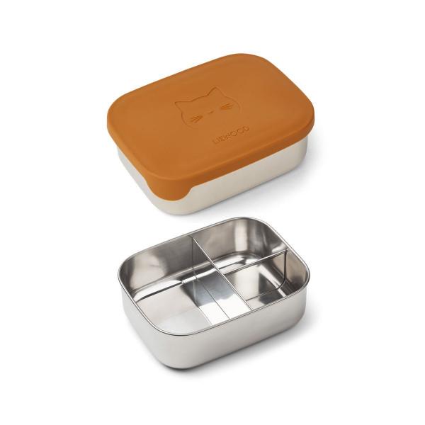 Liewood - Lunchbox Arthur Cat mustard