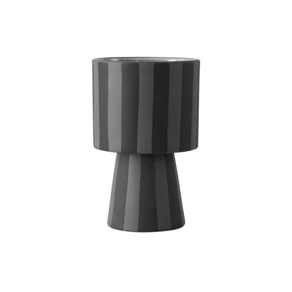 """OYOY - Blumentopf """"Toppu Pot"""" schwarz/grau klein"""