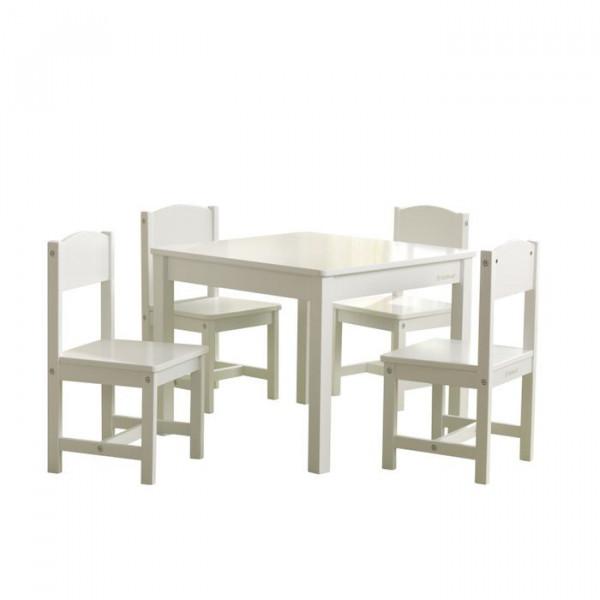Kidkraft - Farmhouse Tisch mit 4 Stühlen weiß