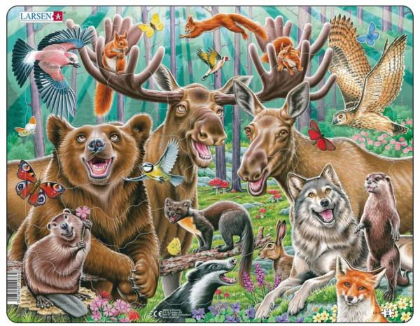 Larsen - Puzzle fröhliche Waldtiere