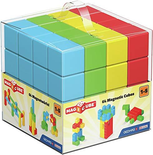 MAGICUBE - Free Building 64 cubes - Vollfarbe - B-Ware