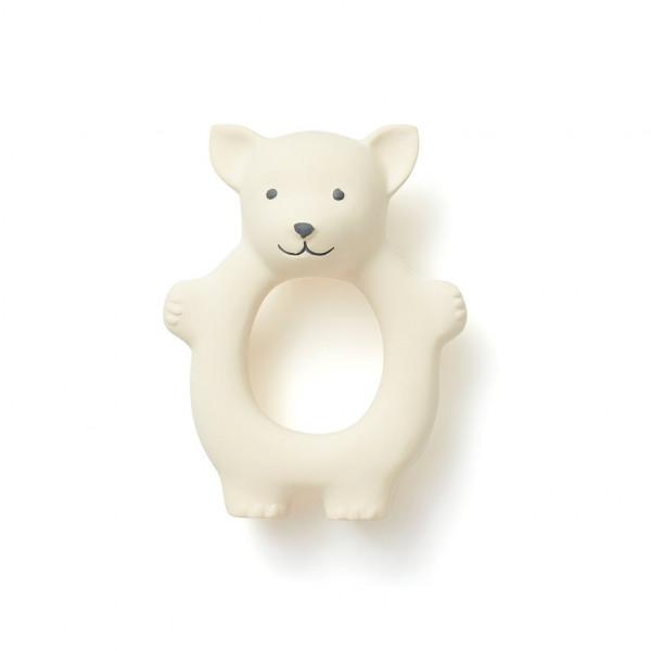 Kids Concept - Beissring Fuchs Naturgummi Weiß