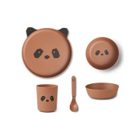 Liewood - Geschirrset Bambus Panda tuscany rose