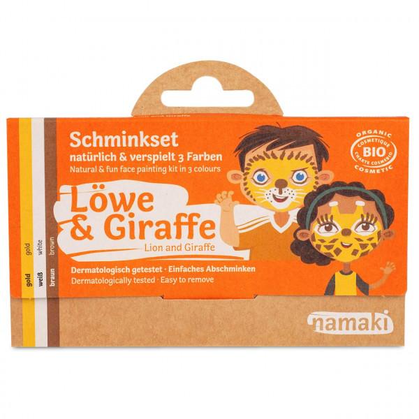 namaki - Bio Kinderschminke Löwe & Giraffe 3 Farben