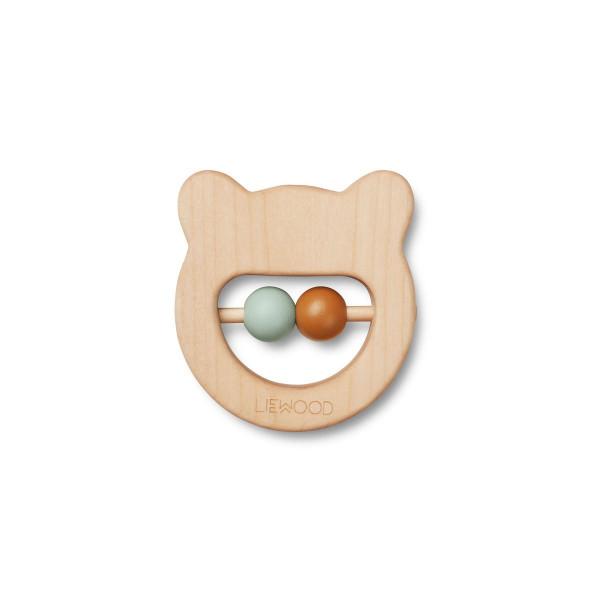 Liewood - Greifling/Zahnungshilfe Ivalu Mr. Bear natural