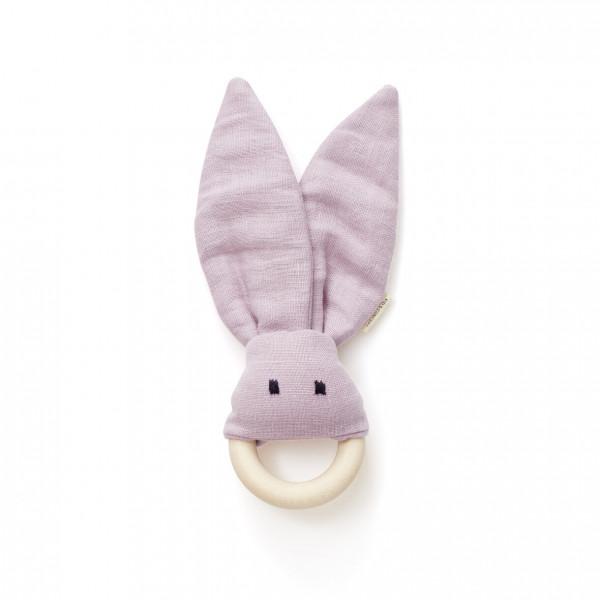 """Kids Concept - Beißring Hase """"IVY"""" aus Leinen"""