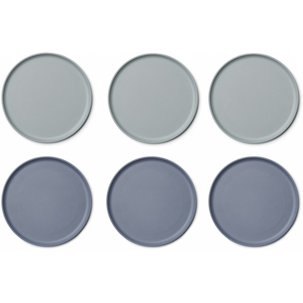 Liewood - Patrick Bambus Teller 6er Pack blue mix