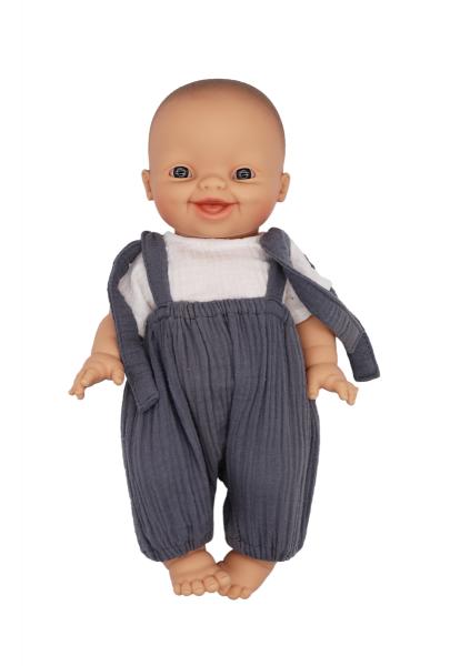 Lalou - Puppenkleidung Jungen Set 2 Bloomer/T-Shirt