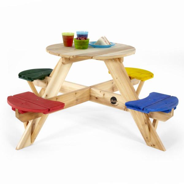 Plum - Picknicktisch mit farbigen Sitzen