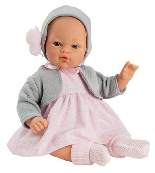 Asi Coleccion - Puppe Kojke rosa Kleid 36 cm