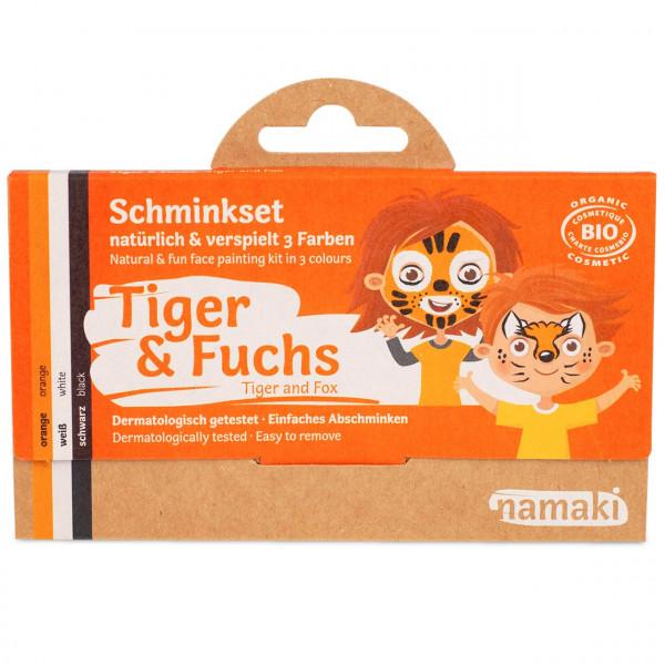 namaki - Bio Kinderschminke Tiger & Fuchs 3 Farben