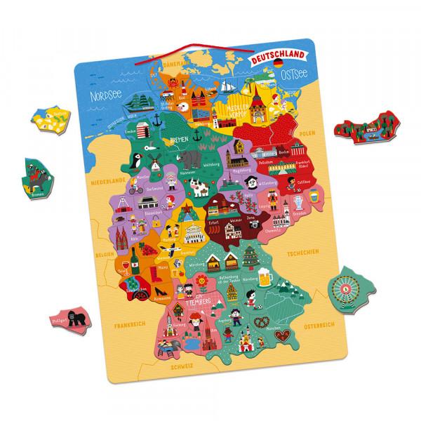 """Janod - magnetisches Puzzle - Landkarte """"Deutschland"""""""