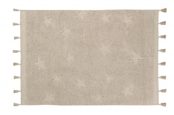 Lorena Canals - Teppich Washable Baumwolle Rug Hippy Stars Natural