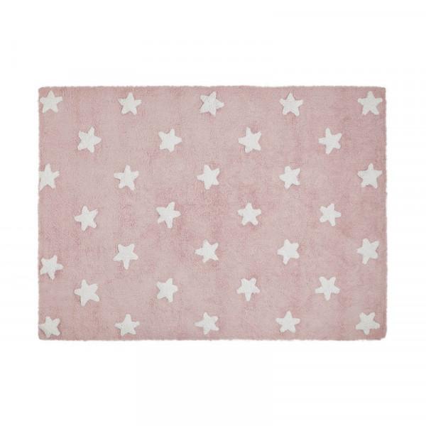 """Lorena Canals - Teppich """"Estrella Tricolor"""" Star Pink-White"""
