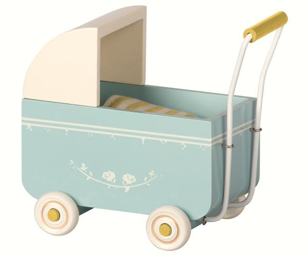 Maileg - Kinderwagen blau 14 cm