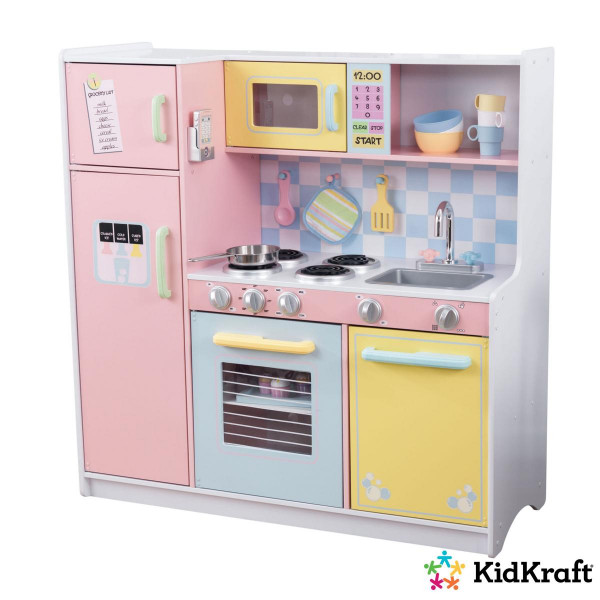 Kidkraft - Große Kinderküche in Pastellfarben