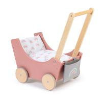 Musterkind - Puppenwagen BARLIA altrosa/natur