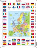 Larsen - Puzzle Europa Länder & Flaggen