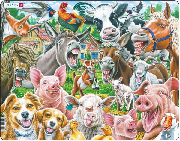 Larsen - Puzzle fröhliche Bauernhoftiere