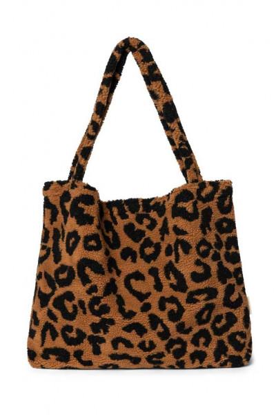 "Studio Noos - Tasche ""Mom Bag"" Teddy Leopard brown"