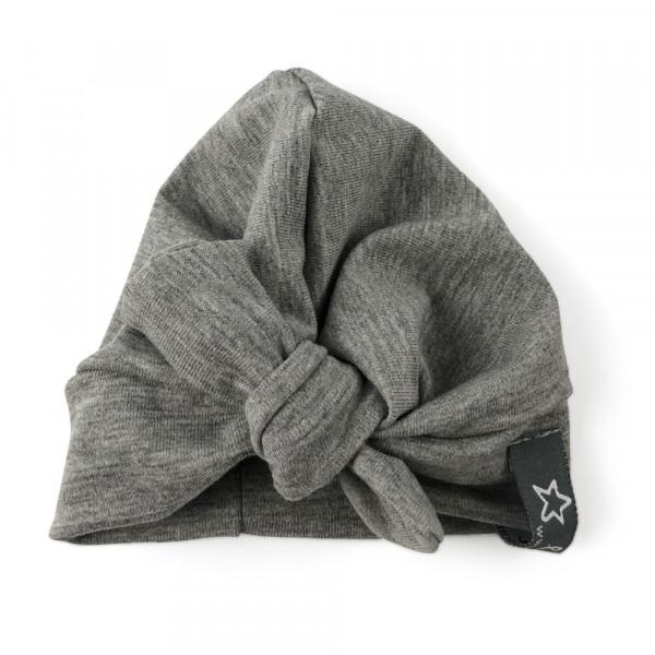 Lalou - Puppenkleidung Turban grau