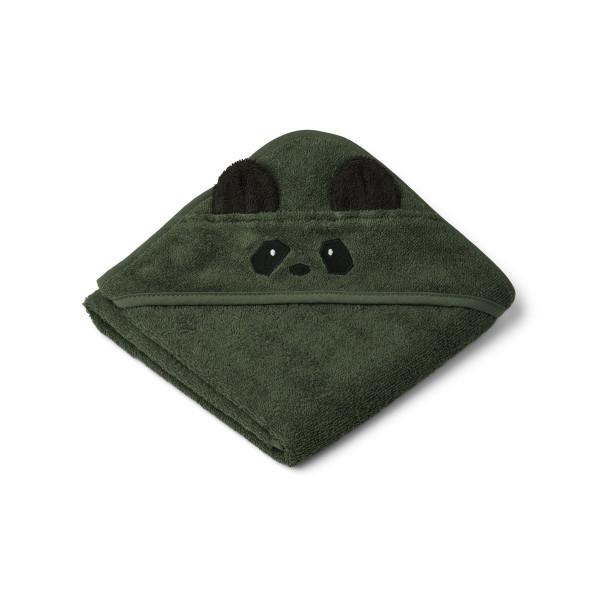 Liewood - Babyhandtuch mit Kapuze Panda green