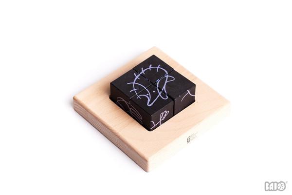 Bajo - Puzzle Würfel Nachttiere