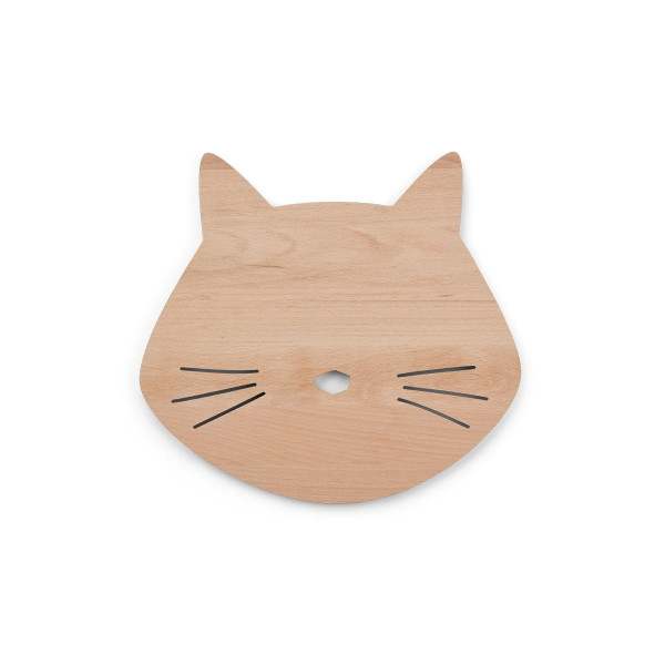 Liewood - Holzlampe Troy cat natural