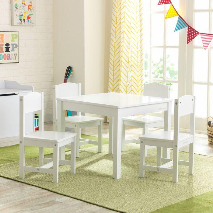 Kidkraft Farmhouse Tisch Mit 4 Stühlen Weiß