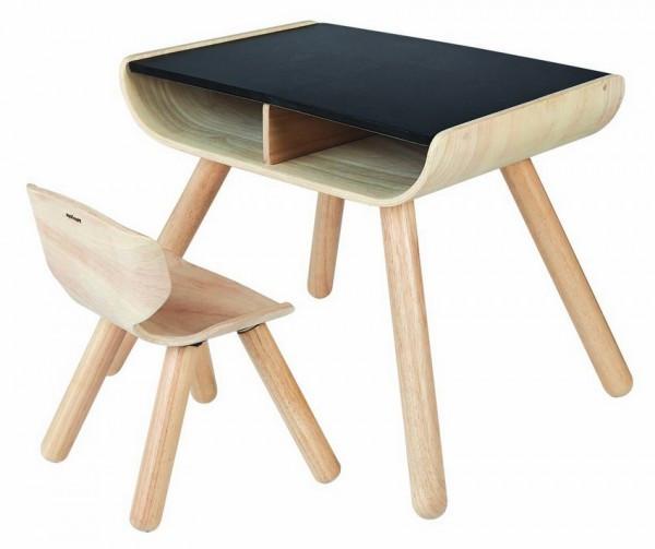 Plan Toys - Tisch und Stuhl schwarz