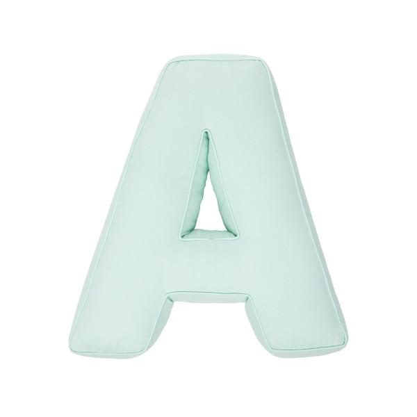 Betty's Home - Baumwollkissen Buchstaben A-Z mint