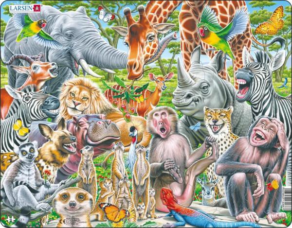 Larsen - Puzzle Fröhliche Wildtiere