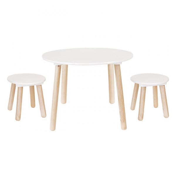 JaBaDaBaDo - Tisch inkl. 2 Hocker weiss