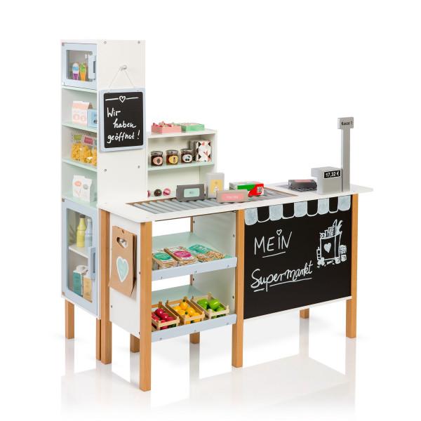 Musterkind - Kaufladen Supermarkt , Alnus weiß/graublau
