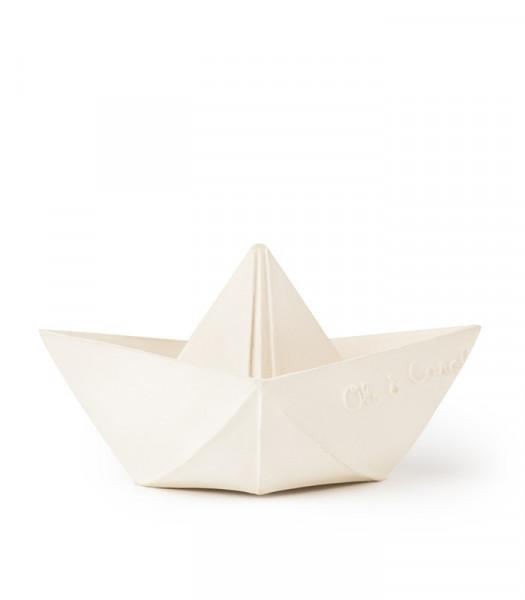 """Oli&Carol - Badespielzeug """"Origami Boat"""" white"""