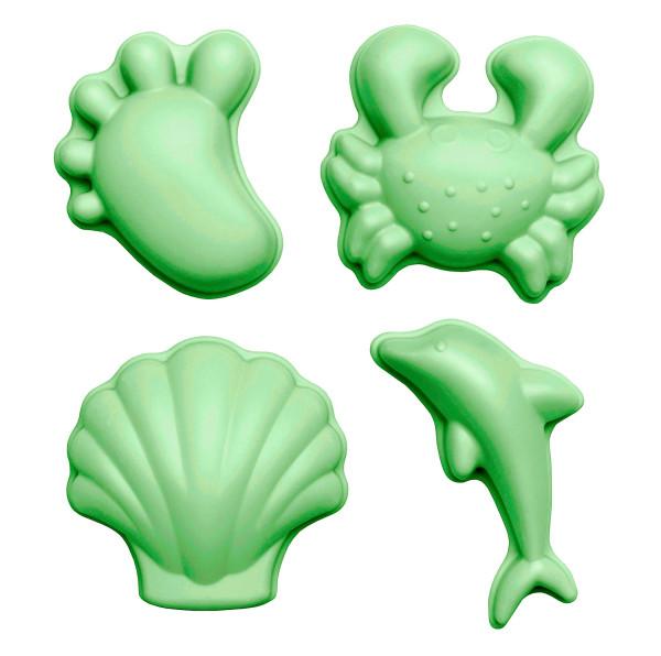 SCRUNCH - Sandformen 4er Set hellgrün