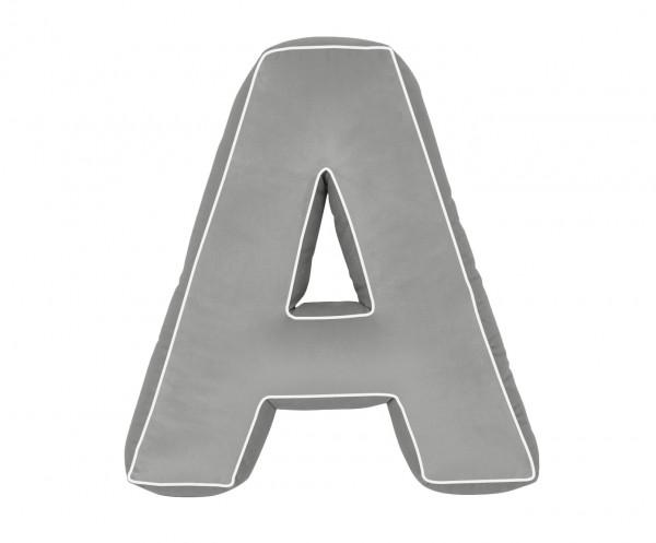 Betty's Home - Baumwollkissen Buchstaben A-Z grey
