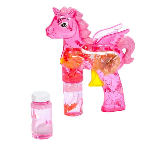 """Fun Trading - Seifenblasenpistole """"Einhorn"""" pink mit LED Licht"""