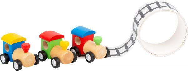 Holzlock mit Schienenklebeband