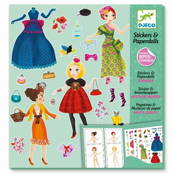 Djeco - Stickerpuppen: Mode