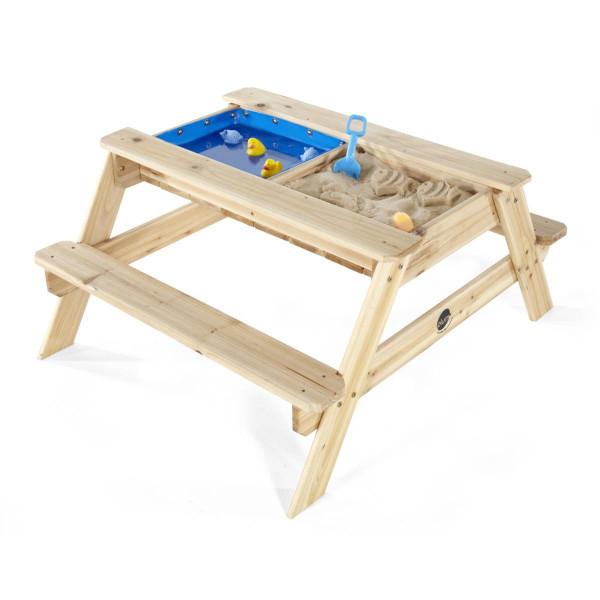 Plum - Sandkasten mit Wasserbecken und Picknicktisch aus Holz