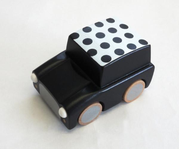 Kiko+ - Kuruma Holzauto schwarz gepunktet