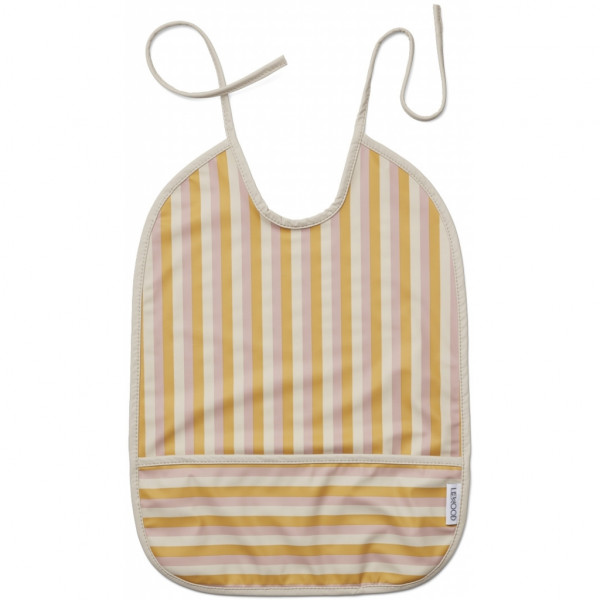 Liewood - Lätzchen Lai Stripe Peach / Sandy / Yellow