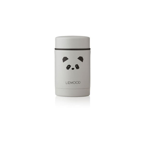 Liewood - Thermobehälter Nadja panda light grey