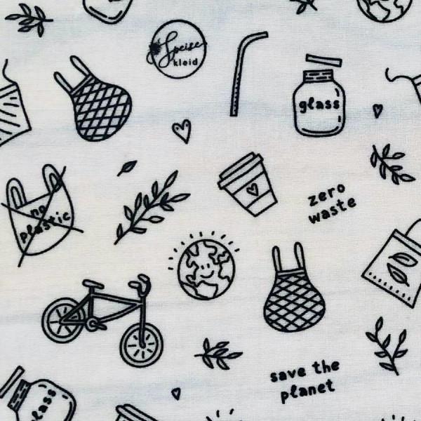 Speisekleid - Bienenwachstuch Zero Waste/Save the Planet