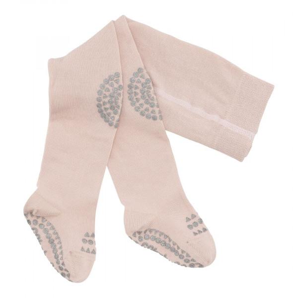 GOBABYGO - rutschfeste Strumpfhose soft glitter pink