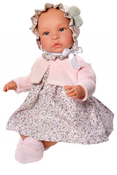Asi Coleccion - Puppe Leo Blumenkleid 46 cm